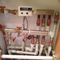 Установка прибора учета тепловой энергии.
